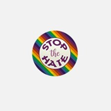 STOP THE HATE. Mini Button