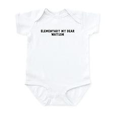 Elementary my dear Watson Infant Bodysuit