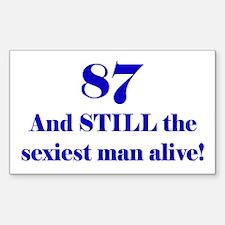 87 Still Sexiest 2 Blue Decal