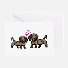 Dachshund Valentine Greeting Cards