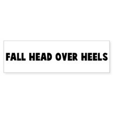Fall head over heels Bumper Car Sticker