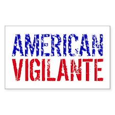 American Vigilante Rectangle Decal
