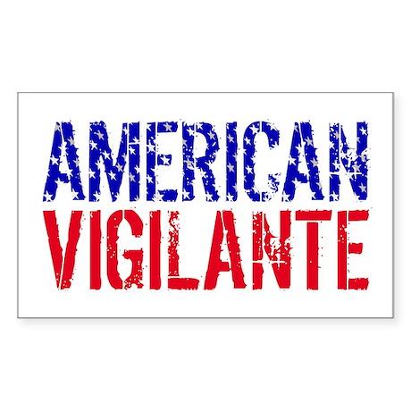 American Vigilante Rectangle Sticker