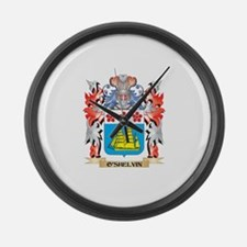 O'Shelvin Coat of Arms - Fami Large Wall Clock