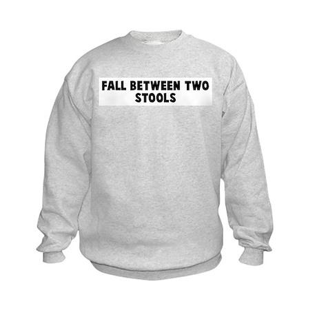 Fall between two stools Kids Sweatshirt