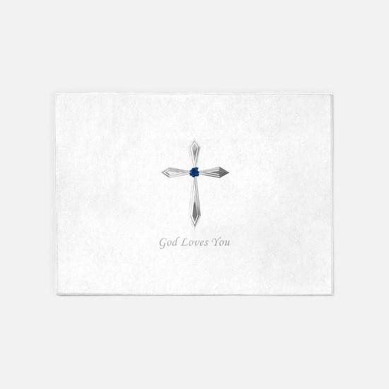God Loves You - 5'x7'Area Rug