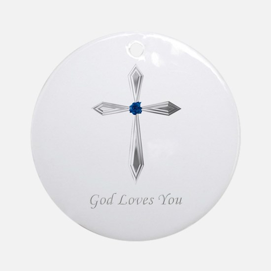God Loves You - Round Ornament