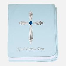 God Loves You - baby blanket