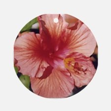 Peachy-Pink Flower Keepsake (Round)