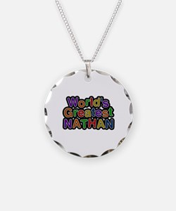 World's Greatest Nathan Necklace Circle Charm