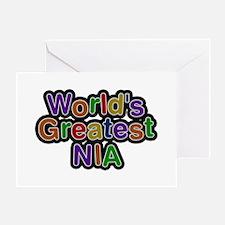 World's Greatest Nia Greeting Card