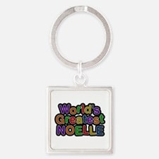 World's Greatest Noelle Square Keychain