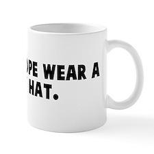 Does the pope wear a funny ha Mug