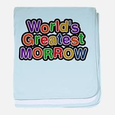 Worlds Greatest Morrow baby blanket