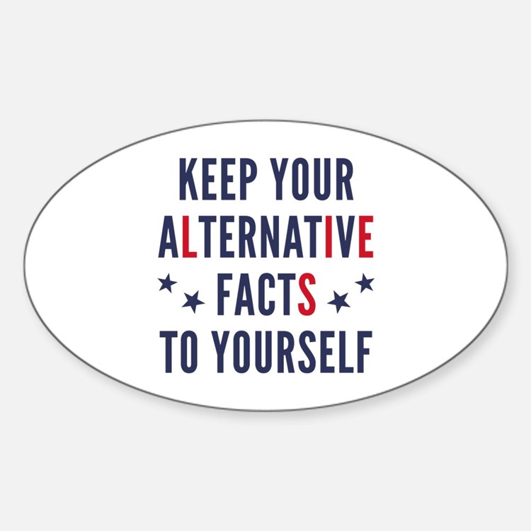 Alternative Facts Sticker (Oval)