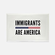 Immigrants Are America Rectangle Magnet (10 pack)