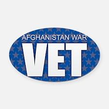 Afghanistan War Vet Oval Car Magnet