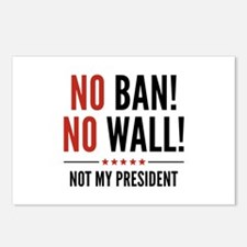 No Ban! No Wall! Postcards (Package of 8)