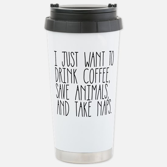 I Just Want to Drink Co Stainless Steel Travel Mug