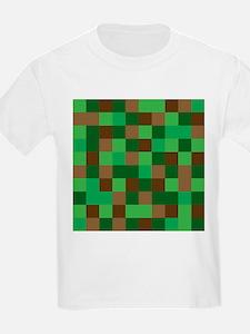 Green Pixelated Design T-Shirt