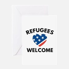 Refugees Welcome Greeting Card