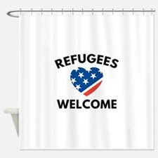 Refugees Welcome Shower Curtain