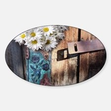 rustic western country cowb Decal