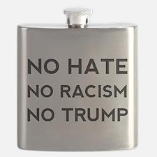 No Hate No Racism No Trump Flask