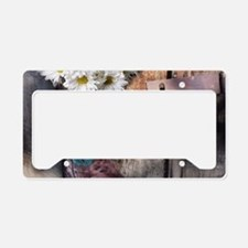 rustic daisy western country License Plate Holder