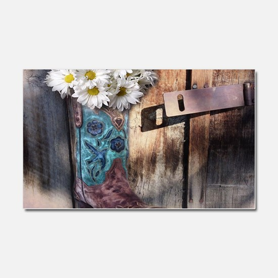 rustic daisy western country co Car Magnet 20 x 12