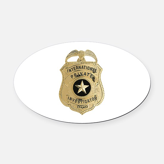 International Private Investigator Oval Car Magnet