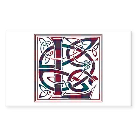 Monogram - Lindsay Sticker (Rectangle)