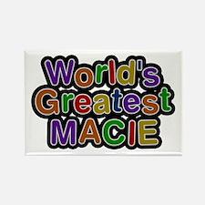 World's Greatest Macie Rectangle Magnet