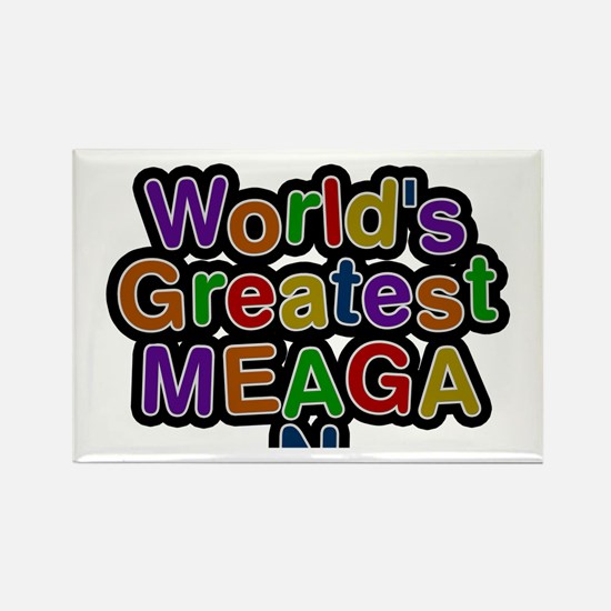World's Greatest Meagan Rectangle Magnet