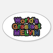 World's Greatest Melvin Oval Decal