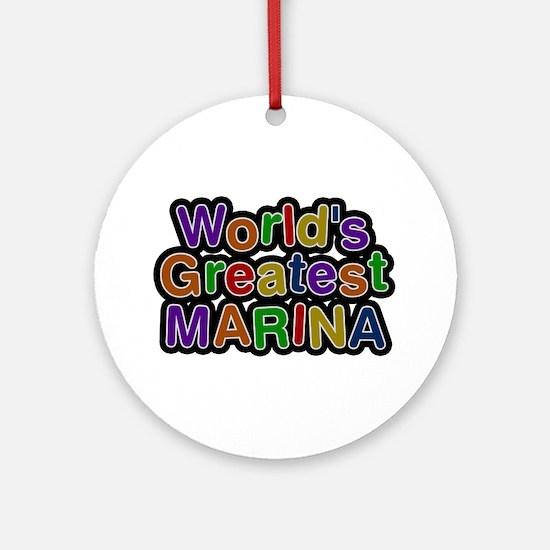 World's Greatest Marina Round Ornament