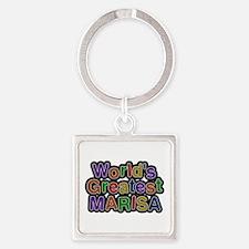 World's Greatest Marisa Square Keychain