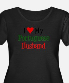 I Love My Portuguese Husband Plus Size T-Shirt