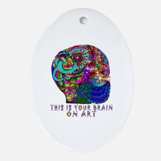 ART BRAIN Oval Ornament