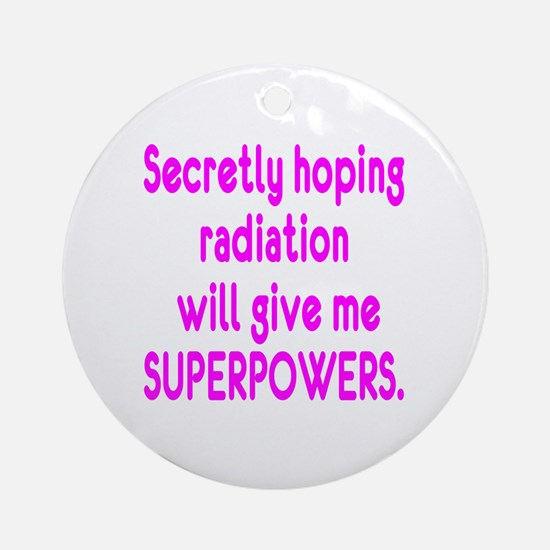 Cute Radiation Round Ornament