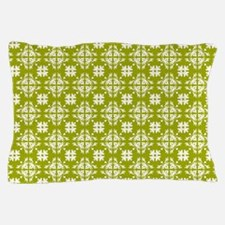 Yellow & White Floral Tile Pattern Pillow Case