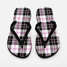 Rustic Plaid Pattern: Pink Flip Flops