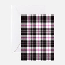 Rustic Plaid Pattern: Pink Greeting Card