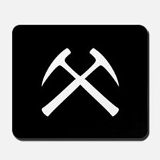 Crossed Rock Hammers Mousepad