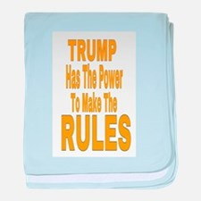 Trump Has The Power baby blanket
