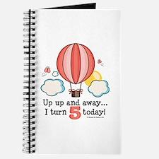 Fifth 5th Birthday Hot Air Balloon Journal