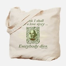 Shakespeare Love Story Tote Bag