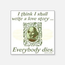 Shakespeare Love Story Sticker