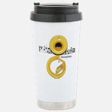 Unique Marching band rock and roll instrument brass Travel Mug