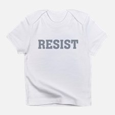 Resist Typography in Grey T-Shirt